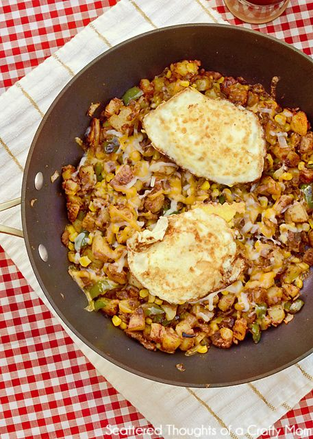 Cowboy hash aka breakfast for dinner the egg mom and for Hamburger dinner ideas for tonight