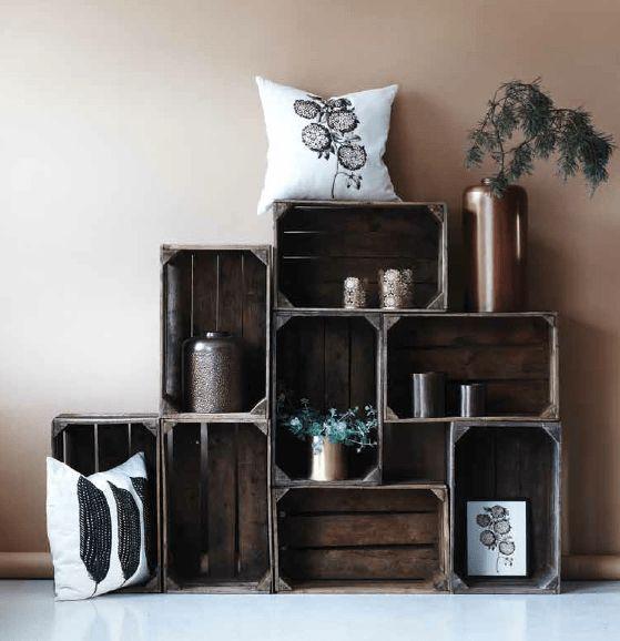 Cagette en bois - les recycler et détourner en meuble déco