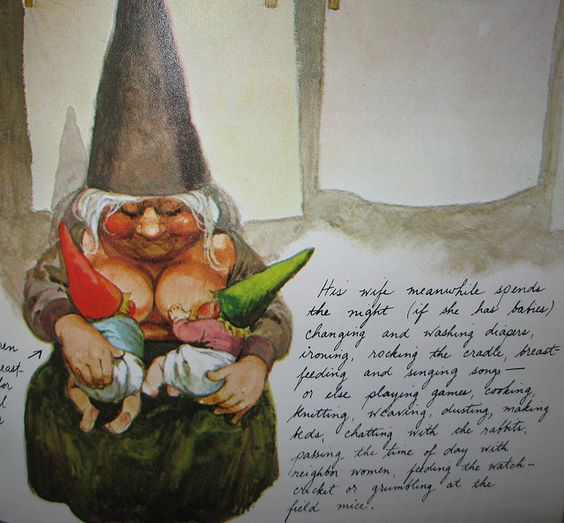 I want this gnome in my garden!! You have to read the description of what she does during the day. No leaning on a shovel while grinning for her! Lol