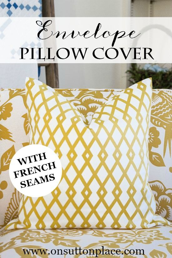 Throw Pillow Cover Instructions : Envelope Pillow Cover Tutorial Pillow covers, Sewing tutorials and Tutorials