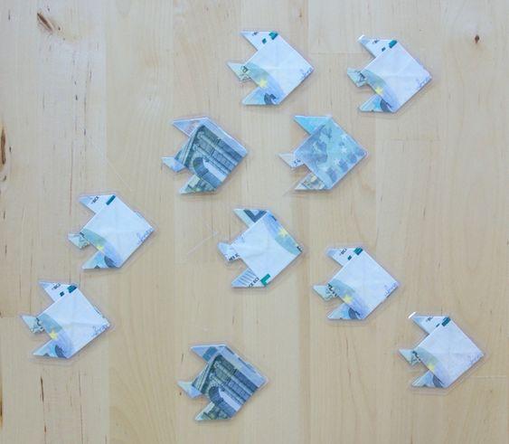geldscheine falten fisch kommunion taufe hochzeit pinterest. Black Bedroom Furniture Sets. Home Design Ideas