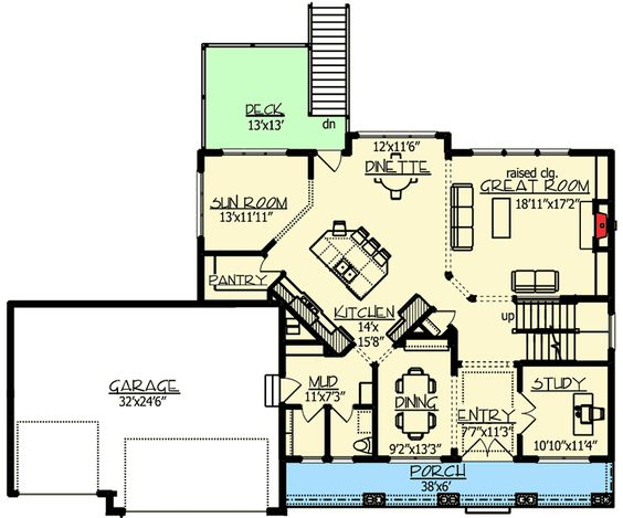 Plan 73325HS: Craftsman Jaw-Dropper