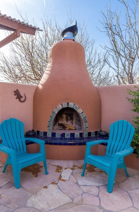 Outdoor Kiva Fireplace New Mexico Homes Outdoor Chairs Outdoor