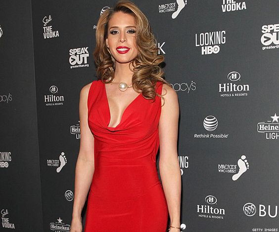 Carmen Carrera stunning in red at the 2014 #Out100 Awards