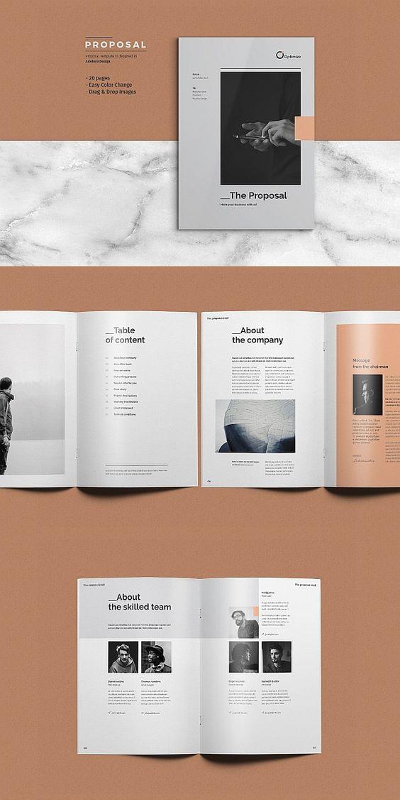 Proposal Graphic Design Brochure Brochure Design Proposal