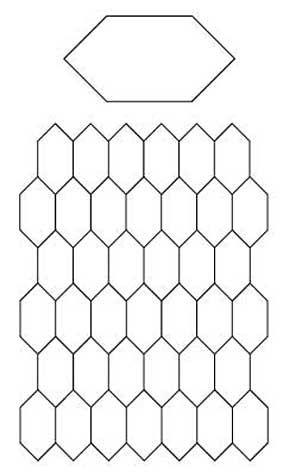 Free english paper piecing honeycombs pattern diy crafts for Free english paper piecing hexagon templates