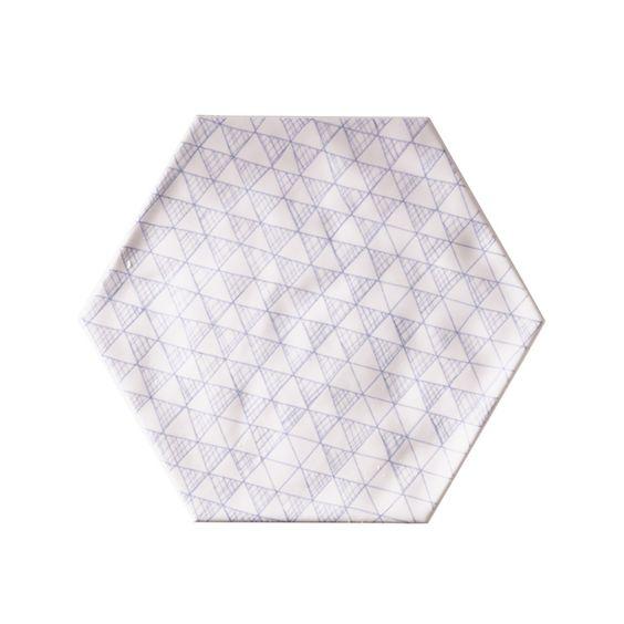 Carrelage mural hexagonal 17 5 x 20 cm d cor makara for Carrelage chez castorama