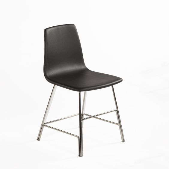 Sean Dix Rod Side Chair - Black Leather and Walnut - Modern Dining Chair  http://www.franceandson.com/mid-century-modern-sean-dix-rod-side-chair-black-leather-and-walnut.html