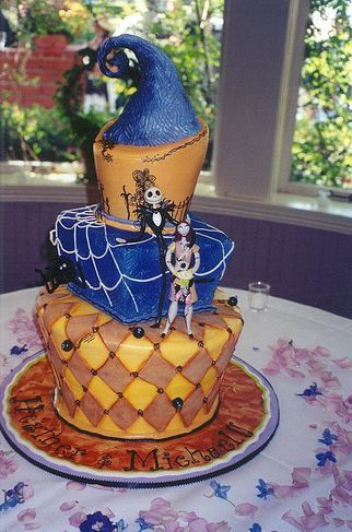 Nightmare Before Christmas Wedding Cake PictureJPG Nightmare
