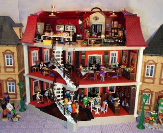 Wayward Arts: Blog Spotlight - Creating a French Bistro from a Playmobil Doll House