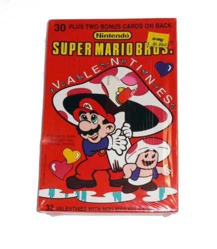 Details about 1989 Super Mario Bros Valentine Cards NEW Vintage – Super Mario Bros Valentine Cards