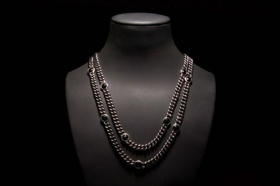 COLAR | Prata com onix. NECKLACE | Silver with onyx. CL0132 #MarcoCruz #Joalheiro #Jewelry #Joias #Portugal #Silver #Jewels #Fashion