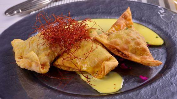 Raviolón de cecina y azafrán - Gonzalo D'Ambrosio - Receta - Canal Cocina