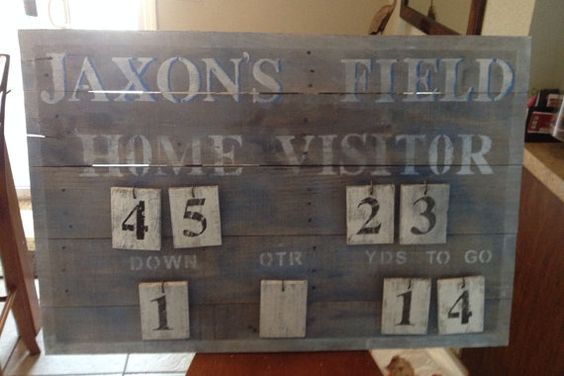 Customize your own Rustic vintage scoreboard by RockPaperSawzall, $175.00