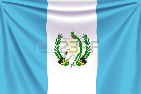 birds of guatemala: illustration of realistic flag of guatemala background with…