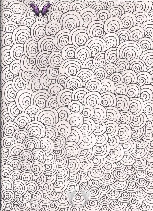 I Would Be Nice To Add Some Colors More From Shyviolet34 Deviantart Com Br Sharpie Art Geometric Coloring Pages Doodle Patterns