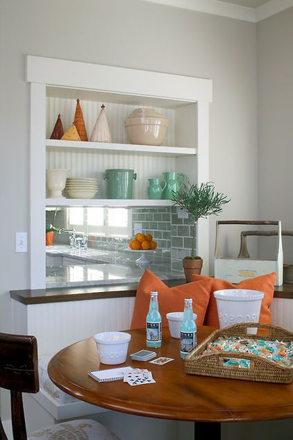 orange connects these rooms