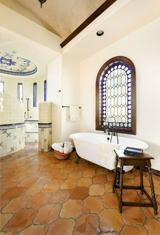 mexican decor saltillo tiles in a lovely bathroom