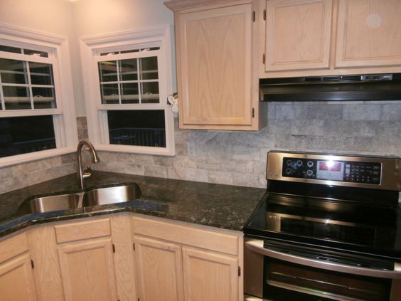 verde butterfly granite countertops white cabinets - Google Search
