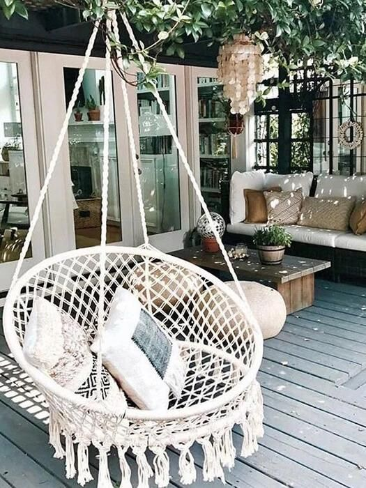 Tassel Hanging Chair Swing Chair Outdoor Hanging Swing Chair Home
