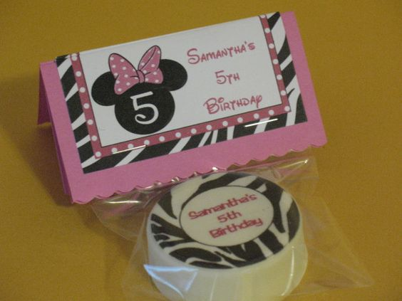 EDIBLE IMAGE Cookies  Minnie Mouse Zebra by serenaspartyboutique, $2.50