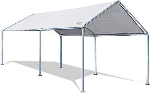 New Quictent 10x20 Ft Upgraded Heavy Duty Carport Car Canopy Party Tent 3 Reinforced Steel Cables Gainsboro Online Shopping Popularbestsellers In 2020 Car Canopy Party Tent Pop Up Canopy Tent