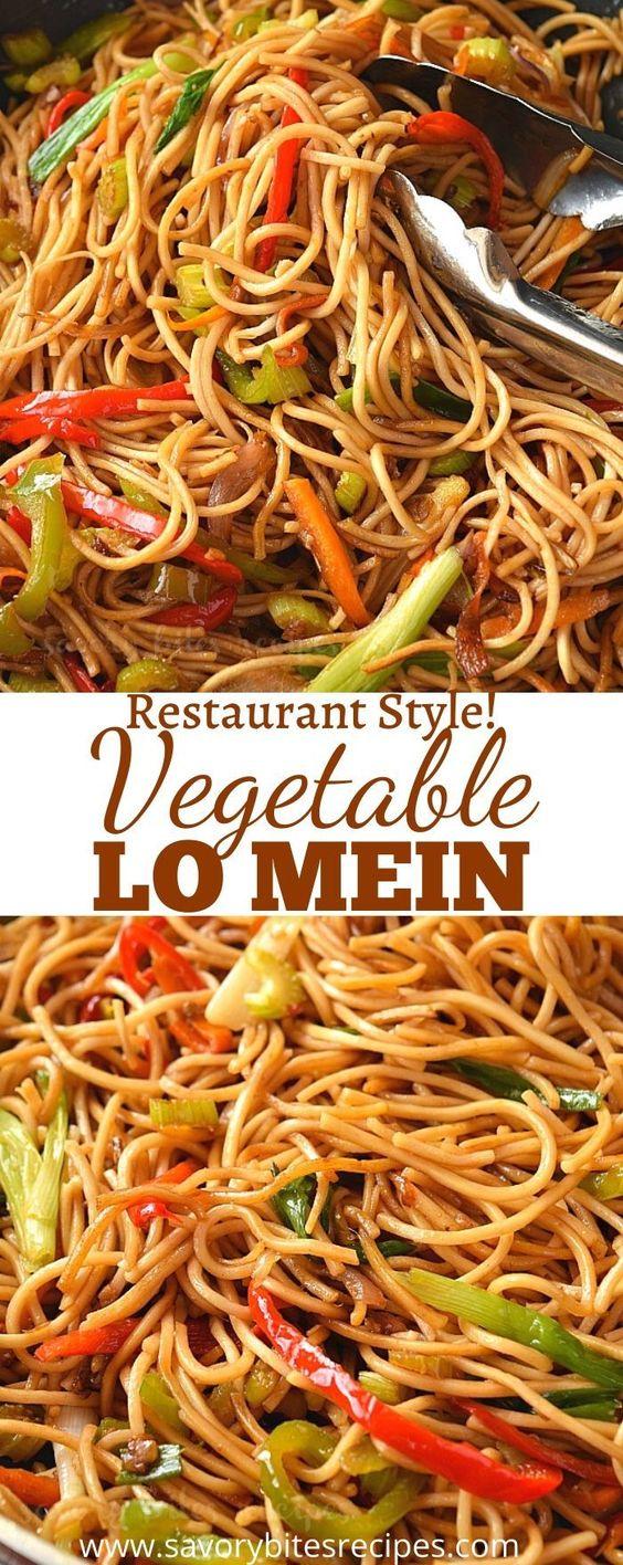 Restaurant Style- Vegetable Lo Mein!