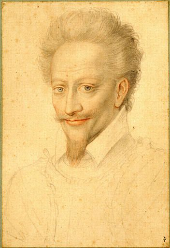 Marie de Clèves (1553-1574)1° épouse du  Prince de Condé  Crayon de l'école de Clouet représentant Henri de Bourbon, prince de Condé (1552-1588).-Henri 1° de Bourbon, 2° prince de Condé (La Ferté/Jouanne 1552-St-Jean d'Angely 1588) fut le prince protecteur des protestants pendant les guerres de Religion. Rival d'Henri III de Navarre, sa foi protestante était militante et il mena de nombreuses campagnes militaires contre les troupes royales (siège de la Rochelle, bataille de Coutras)