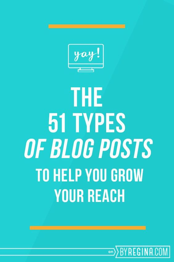 Y'all! This list of 51 types of blog posts you can create to fill your #blog with amazing content is LEGIT. Check it out for some new ideas.