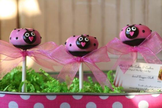Adorable Lady Bug cakepops