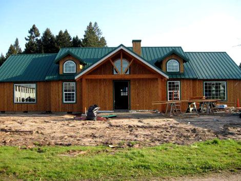 Posts home remodeling and oregon on pinterest for Custom pole barn homes