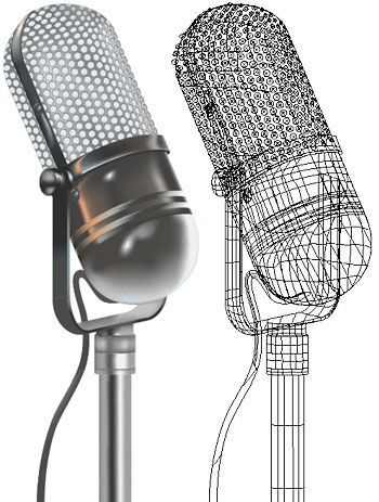 Microphone With Stand Drawing Pinterest • T...