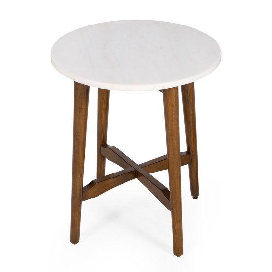 Belham Living James Round Mid Century Modern Marble Side Table Hayneedle Tables