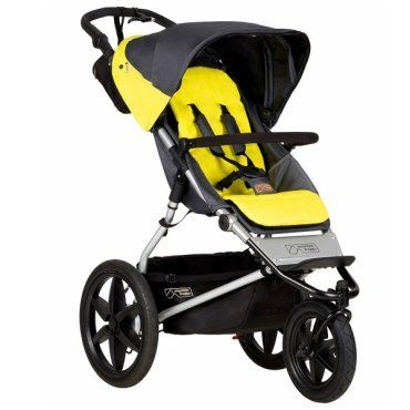 The Mountain Buggy Terrain Stroller offers maximum control and maneuverability. This jogging stroller is ideal for active families and for both on- and off-road.