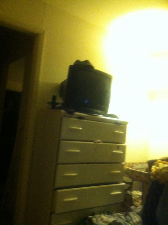 Old school dresser and tv