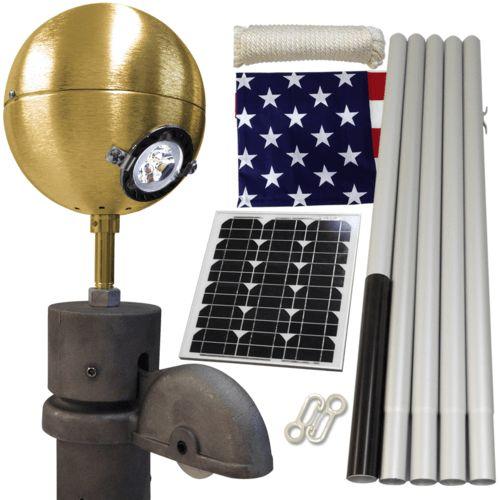 Solar Economy Residential Beacon Package #FlagCo #FlagpoleBeacon #FlagpoleLighting #Solar
