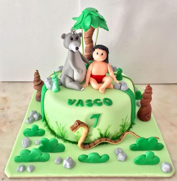Bolo  Menino Mogli Livro da selva Cake  Cakedesign
