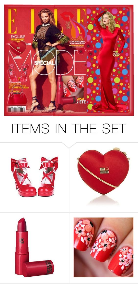 """ELLE"" by stylepetronio ❤ liked on Polyvore featuring art"