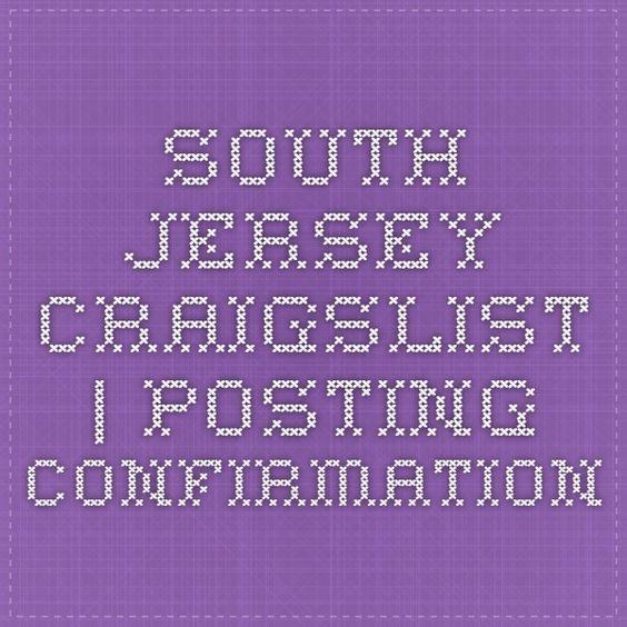 South Jersey Craigslist | Posting Confirmation