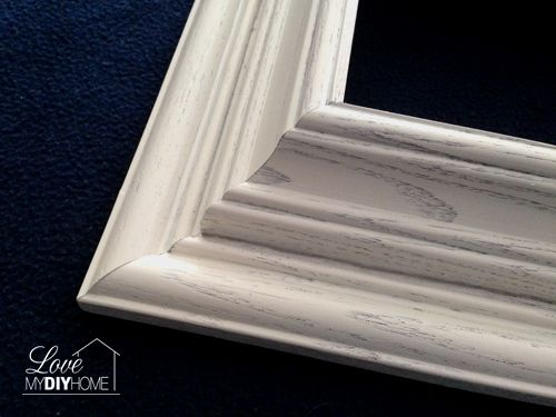Re-purpose old picture frames by gluing a 5x7 on top of an 8x10 for a chunky look - www.lovemydiyhome.com #pictureframes  #diy