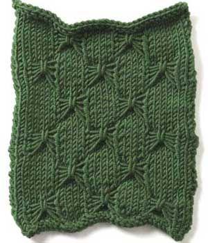 Free Knitting Stitch Gallery : Stitch Gallery - Butterfly Stitch Yarn Free Knitting Patterns Crochet P...