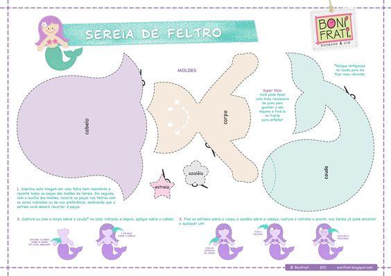 Blog BoniFrati: Especial Terra e Mar: A Sereia (com molde)