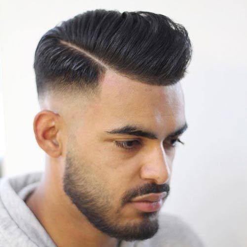 High Fade Pomp Hard Part Pompadour Fade Hair Toupee Pompadour
