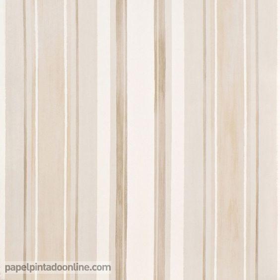 Papel pintado infantil babies 10146 con rayas verticales for Papel pintado marron chocolate
