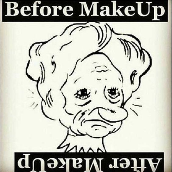 Hahaha thats so clever #thepowerofmakeup