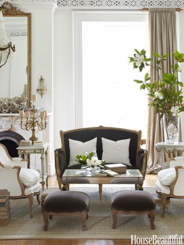 Beautiful and not stuffy.... Designer Annie Brahler creates an old-world feeling in her Jacksonville house with a creamy palette. Photo Bjorn Wallander, House Beautiful