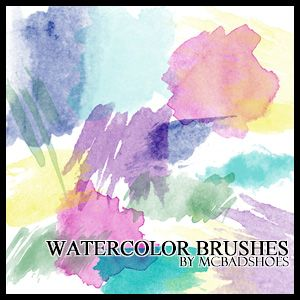 Watercolor Brushes by mcbadshoes