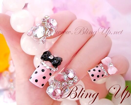 Bling Nail Art Design Everything Nails Pinterest Nail Art Designs Nail Art  And Other - 1000 Images About Nails On Pinterest Nailart Nail Nail And Polish