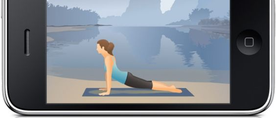 If you're not able to travel to a yoga class, practice a multimedia class at home.
