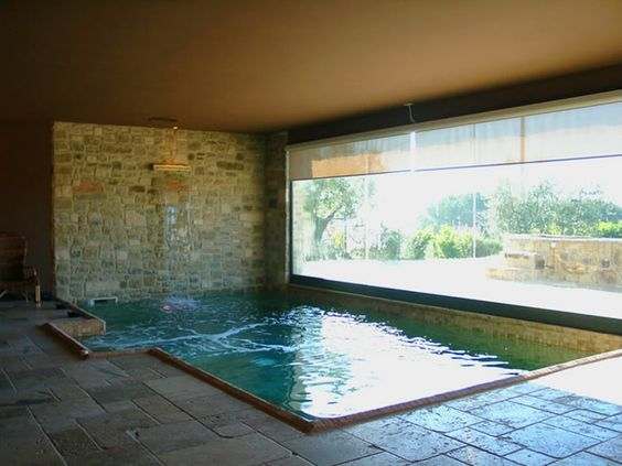 Indoor pool villa  indoor pool at Villa Trasimeno, a Small luxury villa in Umbria ...